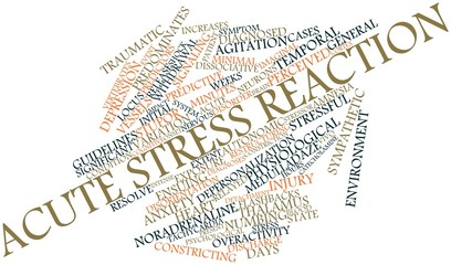 Word cloud for Acute stress reaction
