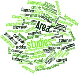 Word cloud for Area studies