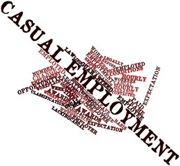 Word cloud for Casual employment