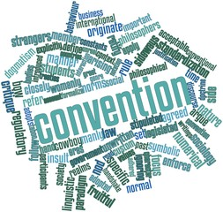 Word cloud for Convention
