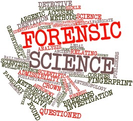 Word cloud for Forensic science
