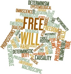 Word cloud for Free will