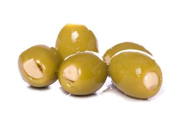 garlic stuffed green olives cutout