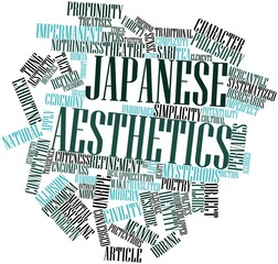 Word cloud for Japanese aesthetics