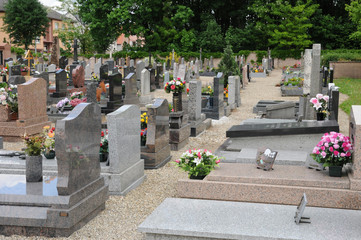 the cemetery of Oberhausbergen in Alsace