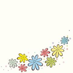 Hand-drawn floral background. Vintage Vector illustration