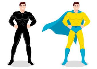 Poster Superheroes Stock vector of a superhero posing