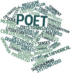 Word cloud for Poet