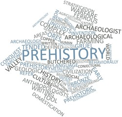 Word cloud for Prehistory