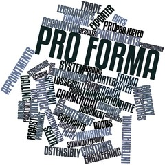 Word cloud for Pro forma