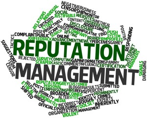 Word cloud for Reputation management