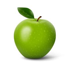 Pomme sur fond blanc 1