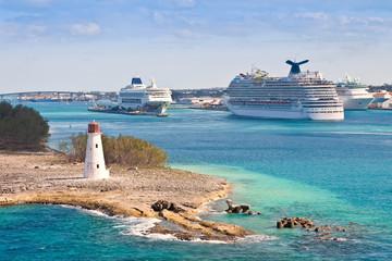 Printed roller blinds Caribbean Cruise Port in Nassau, Bahamas
