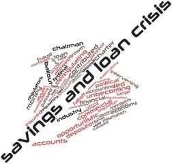 Word cloud for Savings and loan crisis