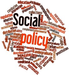 Word cloud for Social policy