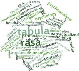 Word cloud for Tabula rasa