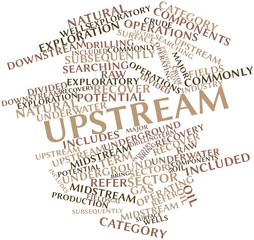 Word cloud for Upstream