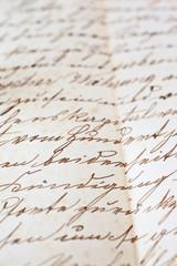 Detail aus altem handschriftlichen Dokument
