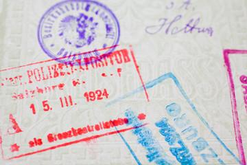Stempel aus altem Pass