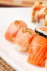 Foto op Aluminium Sushi bar sushi set