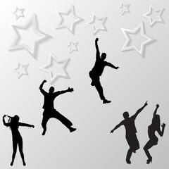 Springen Menschen