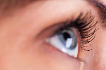 closeup eye zone portrait