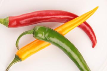 Peperoni rot grün gelb