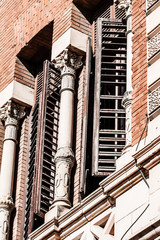 Old buildings and architecture in Madrid, Spain.
