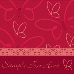 All occasion red butterfly card