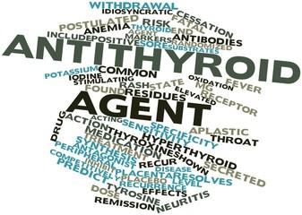 Word cloud for Antithyroid agent