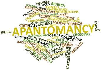 Word cloud for Apantomancy