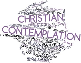 Word cloud for Christian contemplation