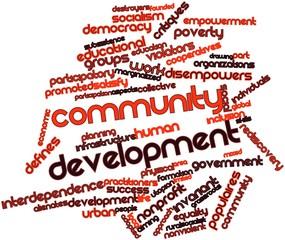 Word cloud for Community development