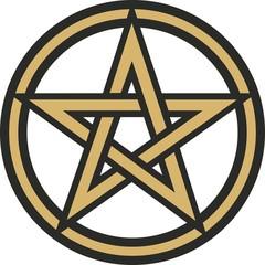 Pentakel - Vektor Grafik - Pentagramm im Kreis