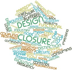 Word cloud for Design closure
