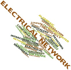 Word cloud for Electrical network