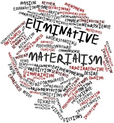 Word cloud for Eliminative materialism