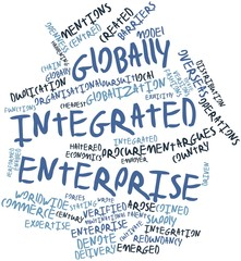 Word cloud for Globally Integrated Enterprise