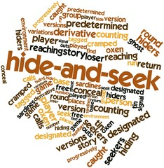 Word cloud for Hide-and-seek