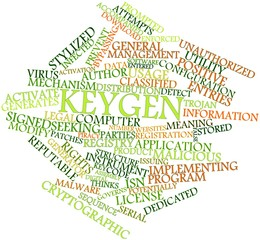 Word cloud for Keygen