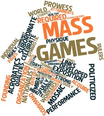 Word cloud for Mass games