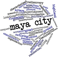 Word cloud for Maya city