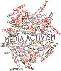 Word cloud for Media activism