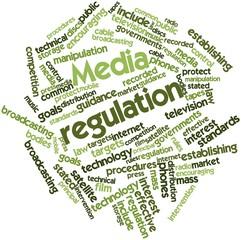 Word cloud for Media regulation