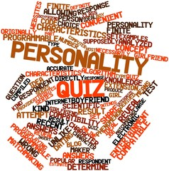 Word cloud for Personality quiz