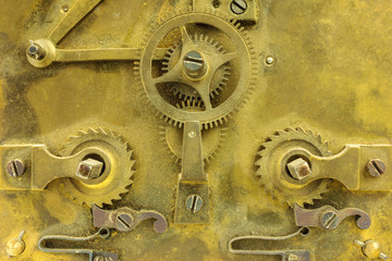 Old inner workings of a clock