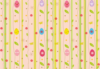 Easter seamless background.