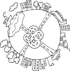 Earth glabal city 3