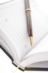 Obraz codzienny notes z długopisem - fototapety do salonu