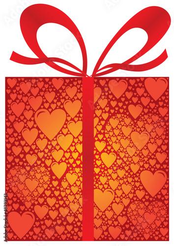 paquet cadeau rouge fait de multiples coeurs avec ruban fichier vectoriel libre de droits sur. Black Bedroom Furniture Sets. Home Design Ideas